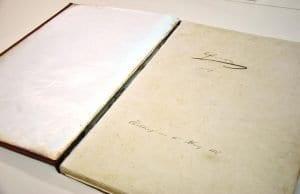 Postojnska jama - podpis Franca Jožefa in Elizabetre v spominski knjigi