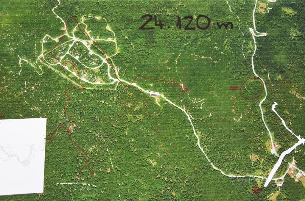 PJ-zemljevid z novo odkritimi deli