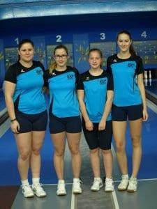 Kadetske državne prvakinje v kegljanju ekipno: Maruša Forjanič, Tina Hren, Ajda Ule in Laura Pokleka. Foto: KK Brest Cerknica