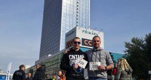 Izak Hribar in Rok Hribar v Berlinu med svetovno gasilsko elito