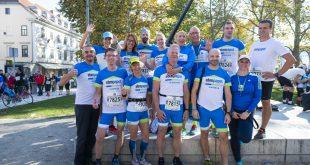 Močna tekaška ekipa ebm-papst Slovenija na Ljubljanskem maratonu