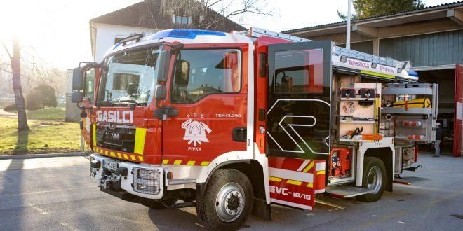 PGD Pivka z novim vozilom za gašenje in reševanje