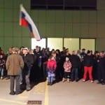 Protest proti azilnemu centru v Logatcu